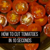 How to cut tomatoes in 10 seconds!