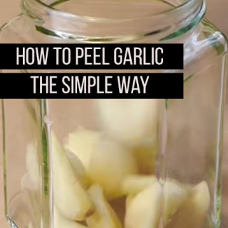 Peel Garlic in a Jar