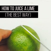 How to juice a lime THE BEST YAY