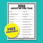 About Me FREE Printable Interview