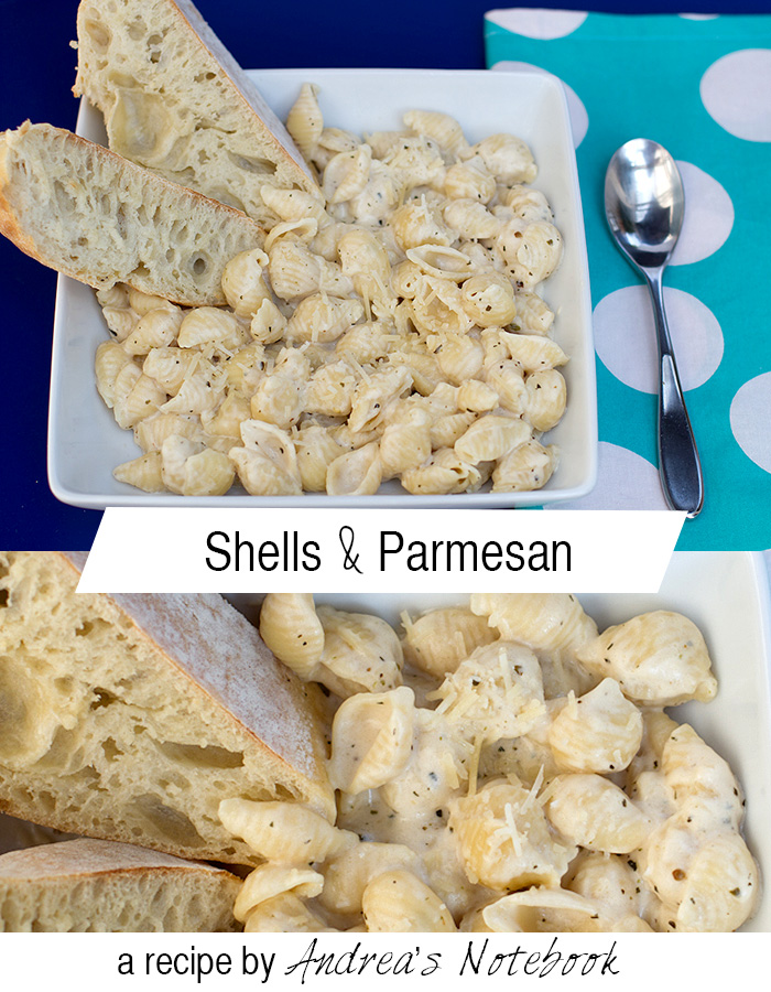 Shells & Parmesan pasta recipe