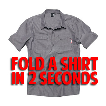 Fold a shirt in 2 seconds. This is mind blowing.