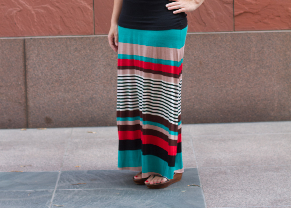 The Best, Easy Knit Maxi Skirt Tutorial - Andrea\'s Notebook