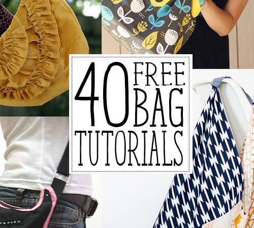 40 free bag tutorials