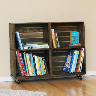 Make a crate bookshelf tutorial