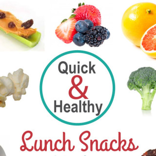 Quick & Easy lunch snacks for kids