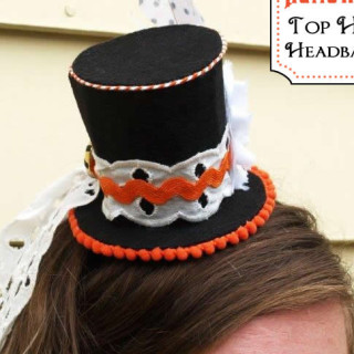 Handmade Costume Series: DIY Mini Top Hat Headband Tutorial