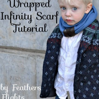 DIY leather wrapped infinity scarf by Feathers Flight
