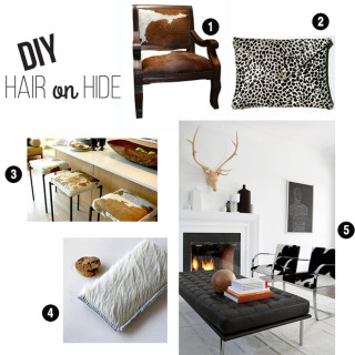 Hair on Hide Chair Makeover (video tutorial & leather giveaway)
