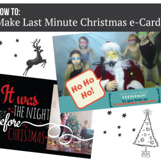 Last Minute Christmas e-Card Tutorial