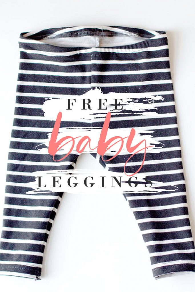Free DIY Baby Leggings Sewing Pattern pink stripes
