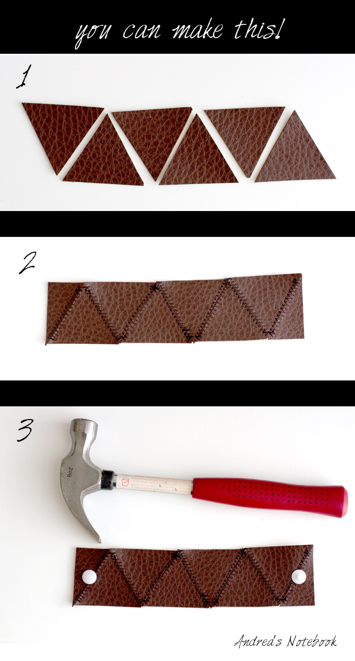 simple leather triangle cuff tutorial from AndreasNotebook.com