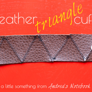 Simple leather triangle cuff tutorial