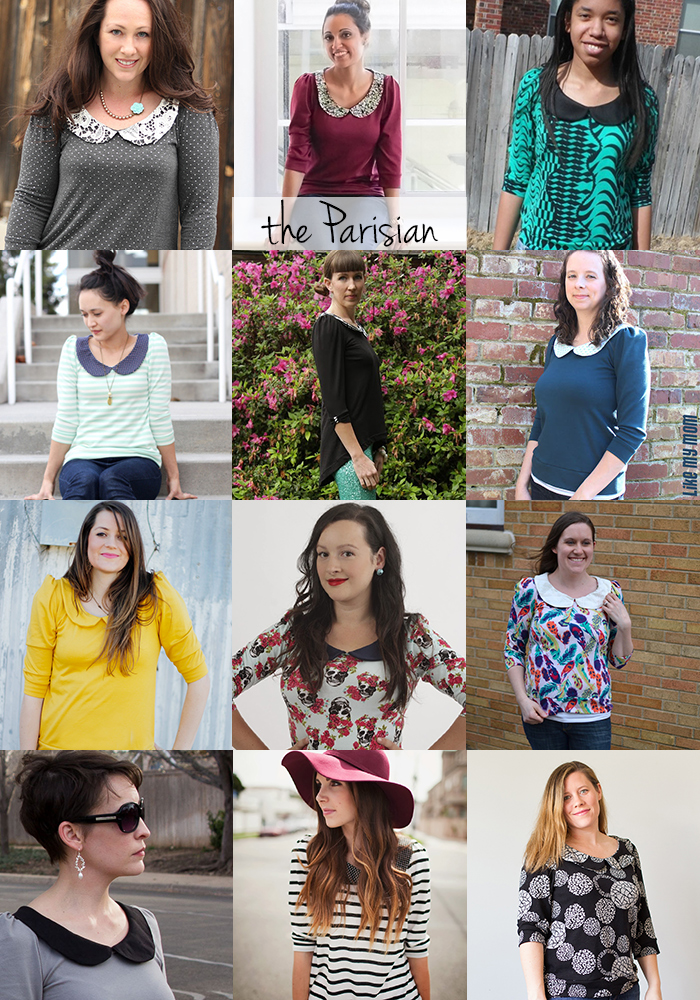 Parisian top sewing pattern by Go To Patterns