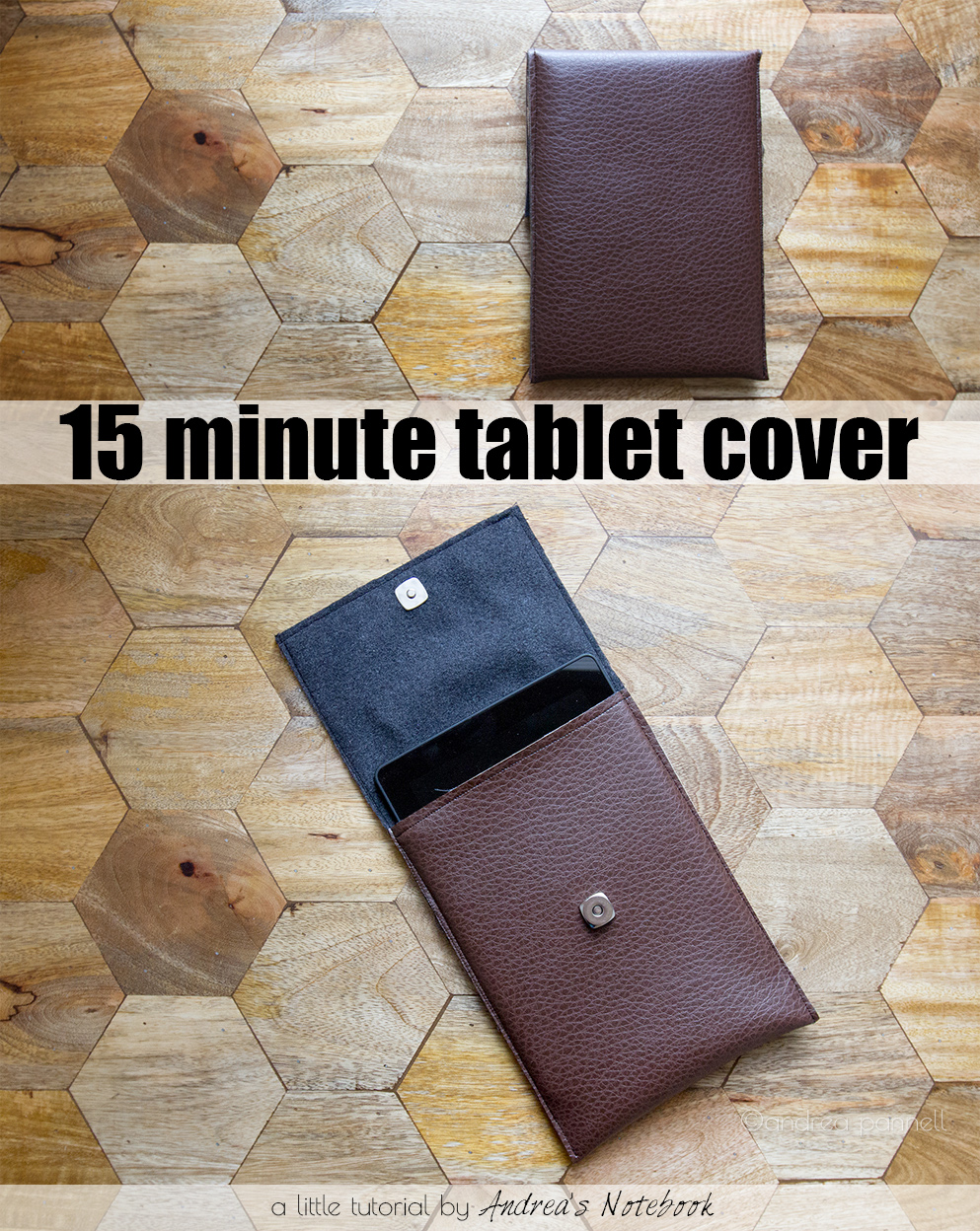 15 minute tablet cover tutorial