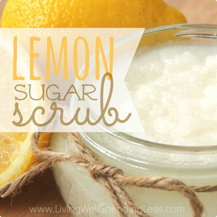 lemon sugar scrub recipe and other great inexpensive gifts to make!