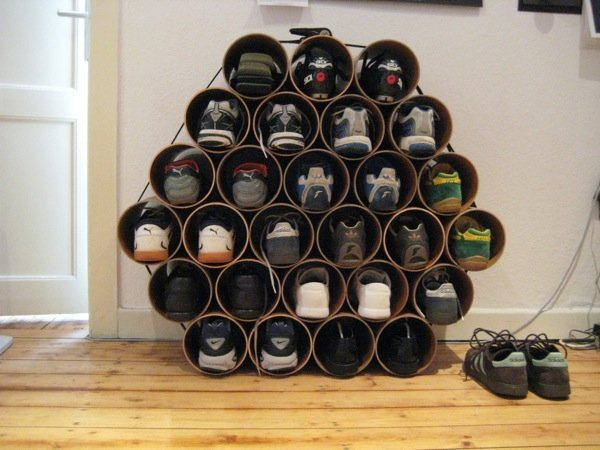 diy family shoe storage solutions andrea 39 s notebook. Black Bedroom Furniture Sets. Home Design Ideas
