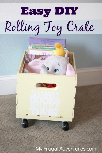 Easy rolling toy crate and dozens of other great toy storage ideas