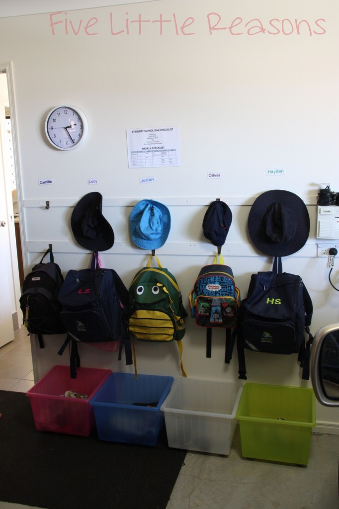 simple shoe and backpack storage solution