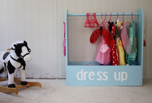 Make a cute dress up rack!