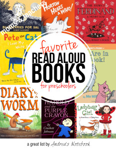 Favorite books for preschoolers. GREAT list!
