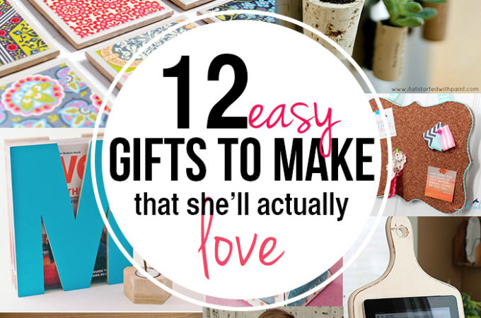 12 easy gifts to make for moms and teachers