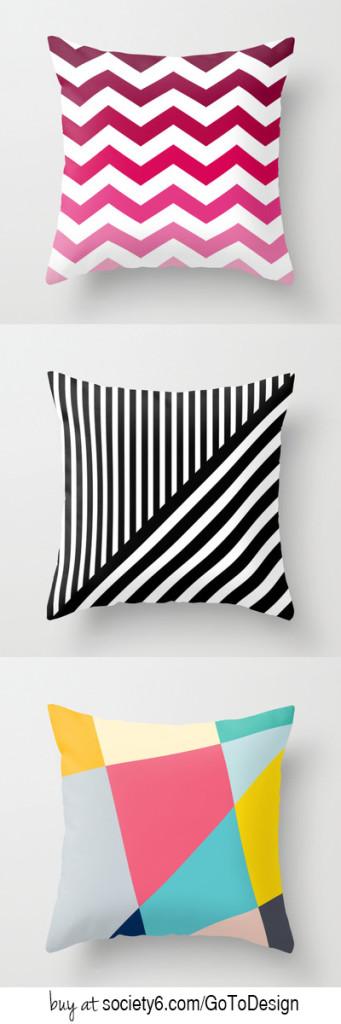 Cute modern pillows!