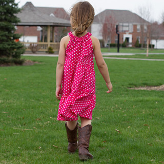 Adorable layered ruffle dress for Easter