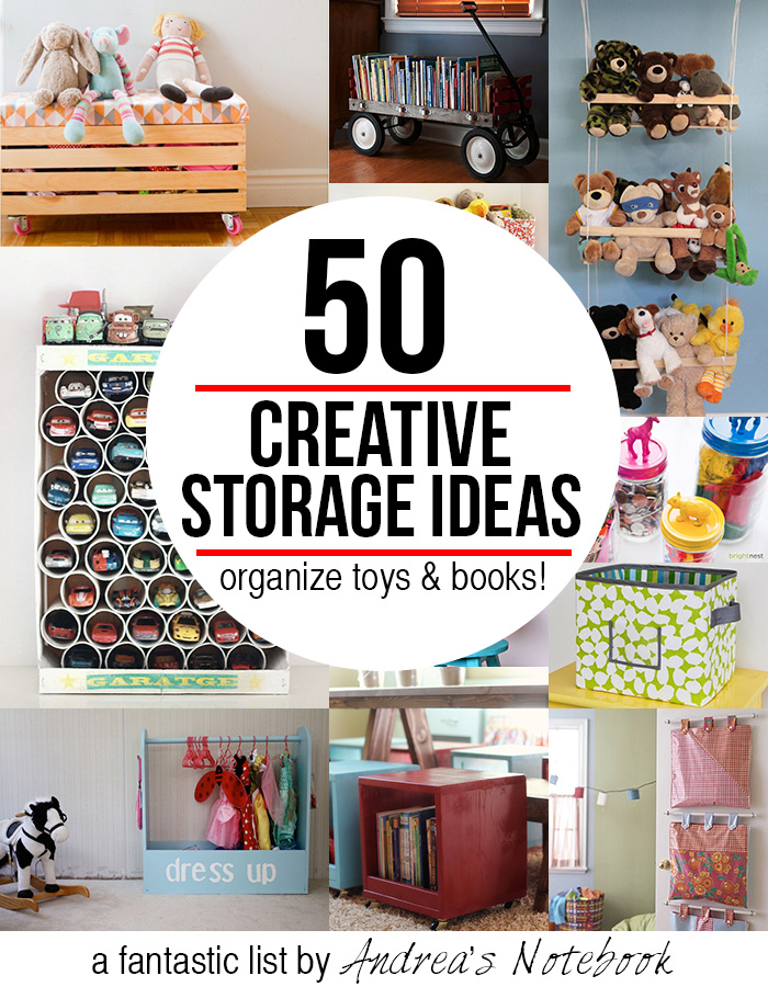 50 creative storage ideas for toys & books! Great inspiration ...