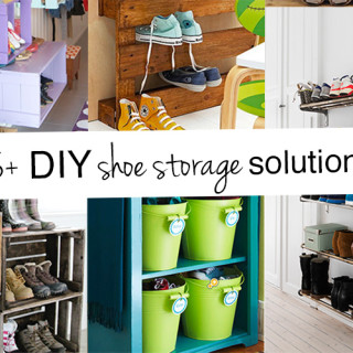 DIY family shoe storage solutions