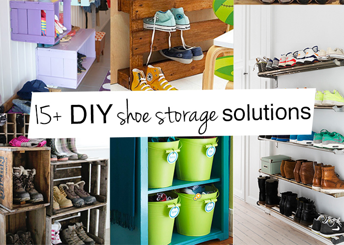 15 DIY Shoe Storage Ideas
