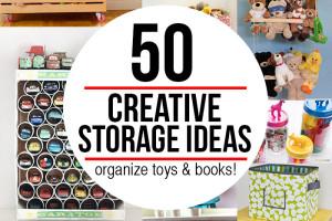 50 fantastic ideas to organize toys & books!