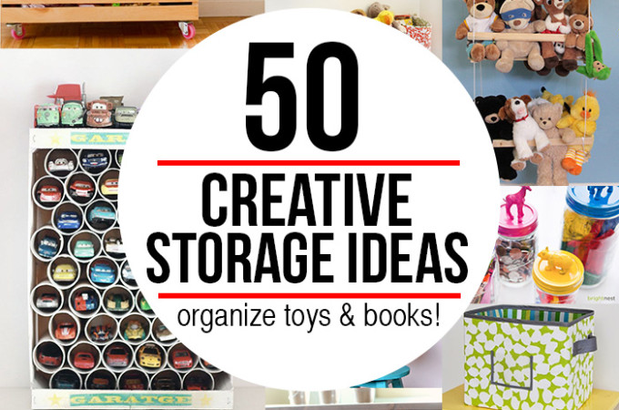50 fantastic ideas to organize toys & books!