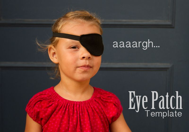 Pirate eye patch tutorial