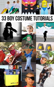 33 costume tutorials for boys! Fantastic!