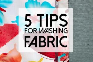 5 fabric washing tips