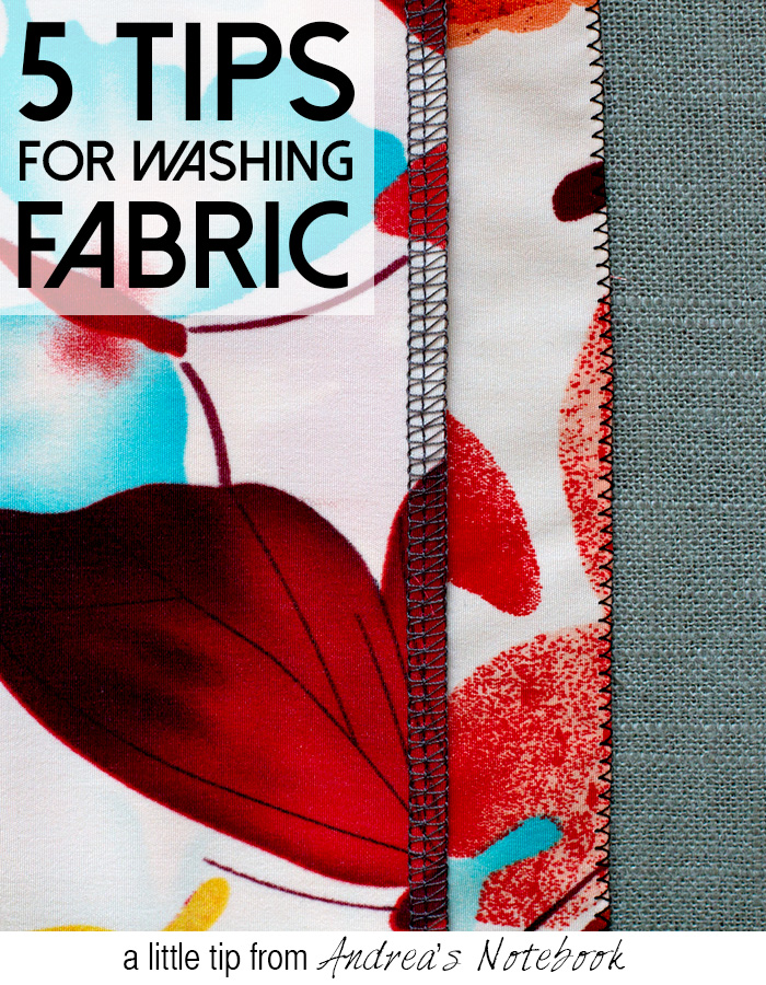 5 great tips for pre-washing fabric