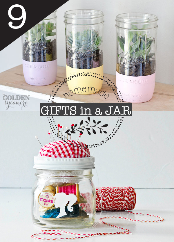 9 homemade gifts in a jar #DIY