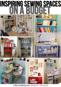 Create a sewing space on a budget