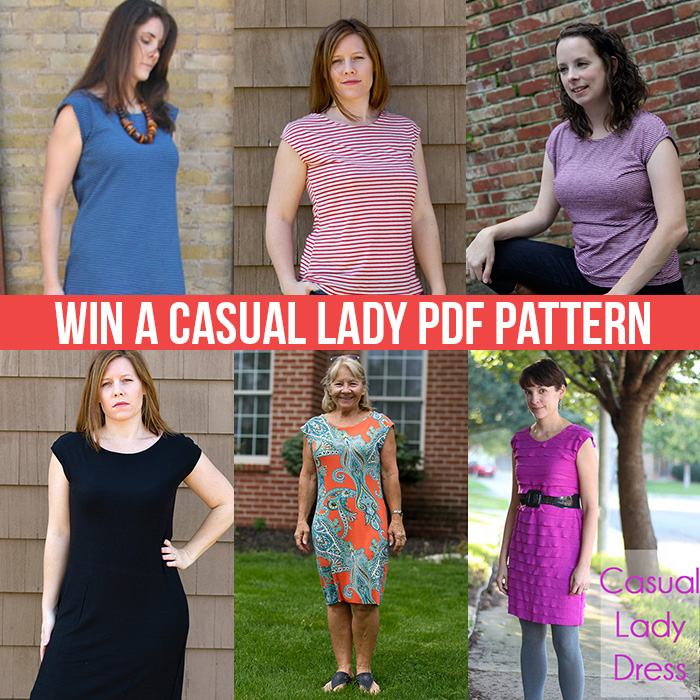 Win a Casual Lady Dress & Top PDF pattern
