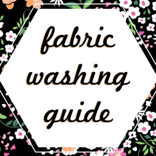 Fabric washing guide