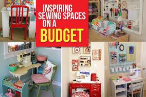 Create a sewing space on a budget!