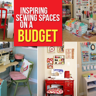How to create a sewing space on a budget