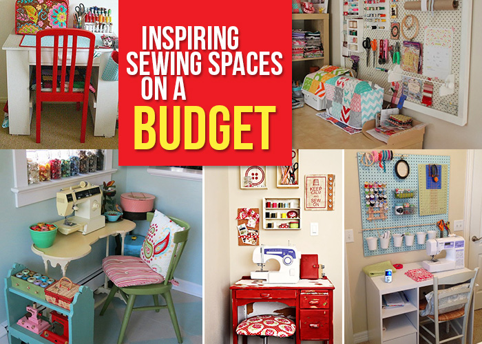 How to create a sewing space on a budget andrea 39 s notebook Sewing room ideas for small spaces