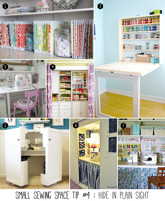 5 tips to organize your small sewing space andrea 39 s notebook - Small space sewing area style ...