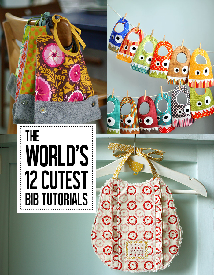 The world's cutest bib tutorials! You've got to see these!