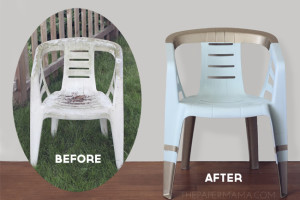 How to paint a plastic outdoor chair! Isn't this beautiful!