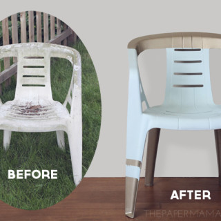 How to paint a plastic outdoor chair multi-color