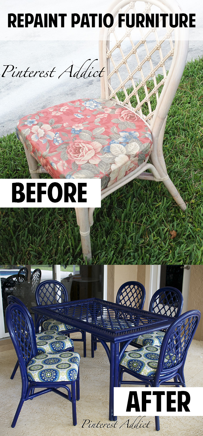 How to repaint wood patio furniture