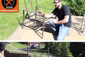How to paint metal furniture (video tutorial)